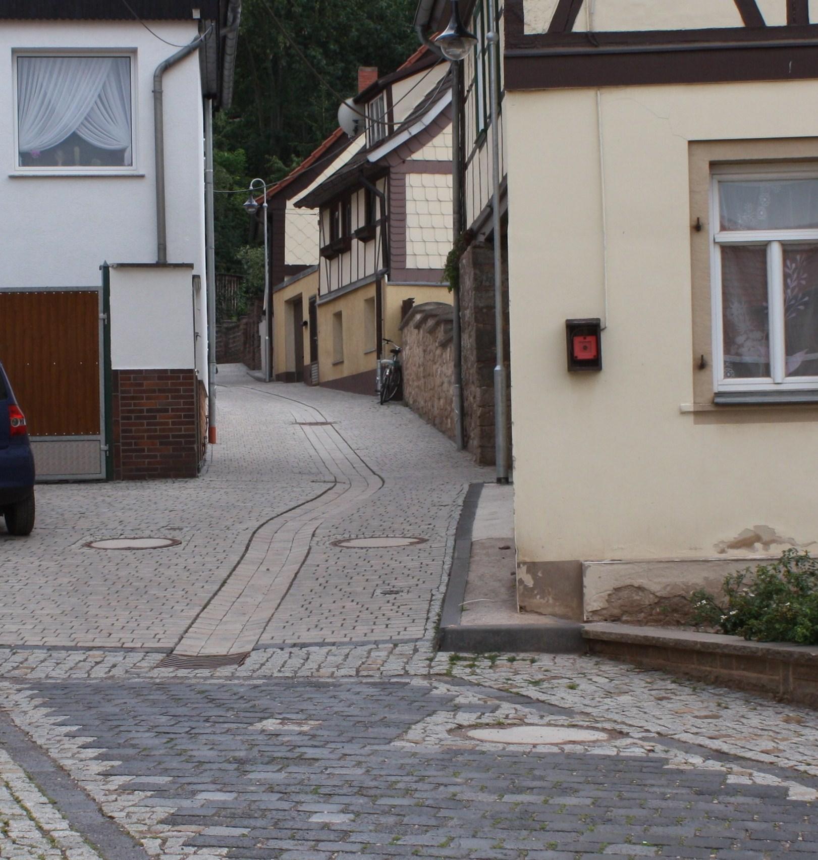 Sanierung der Kirchgasse in Auleben, Landgemeinde Heringen