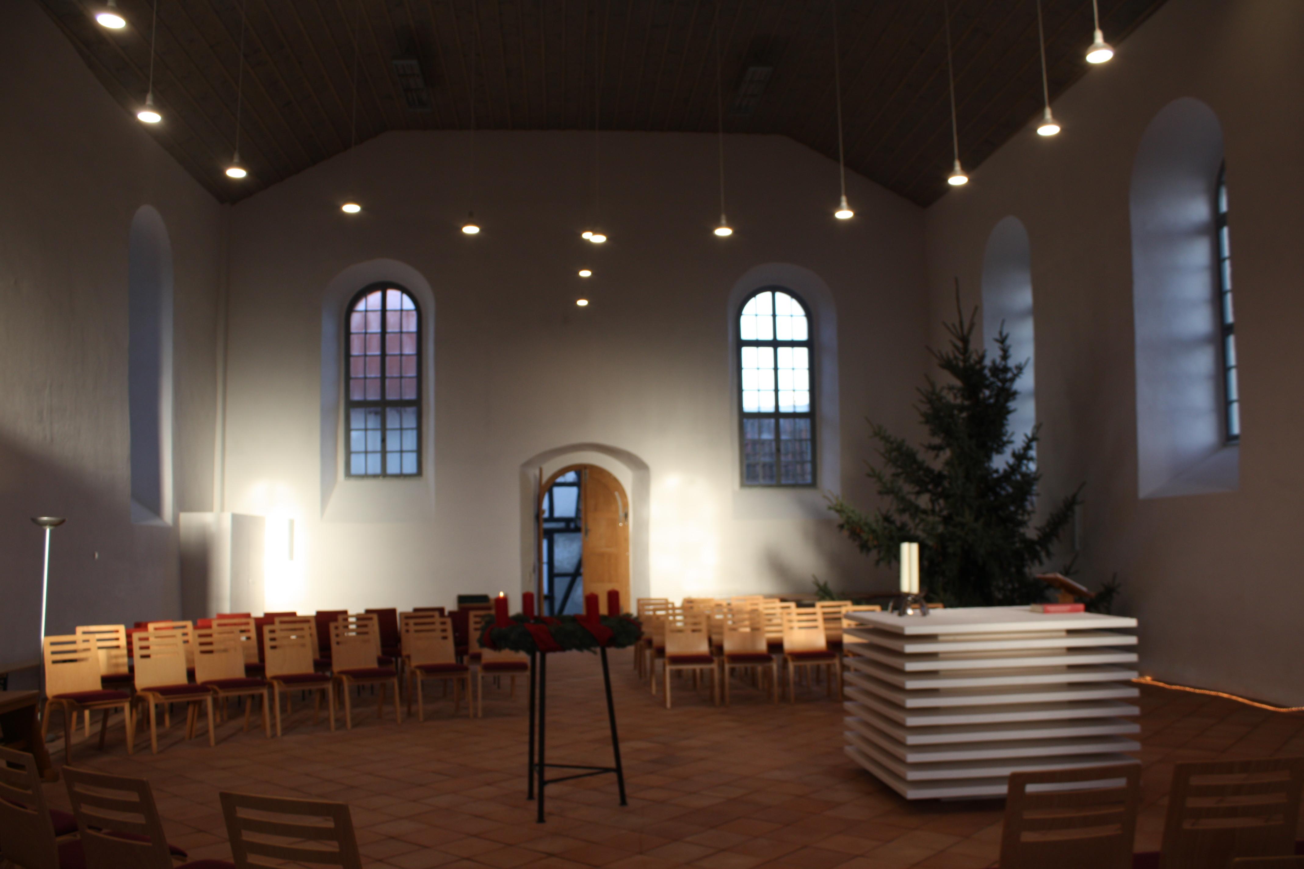 Neu gestalteter Innenraum der St. Nicolai - Kirche in Niedergebra